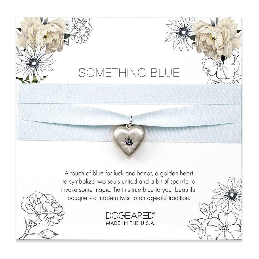 something blue bouquet wrap, sterling silver