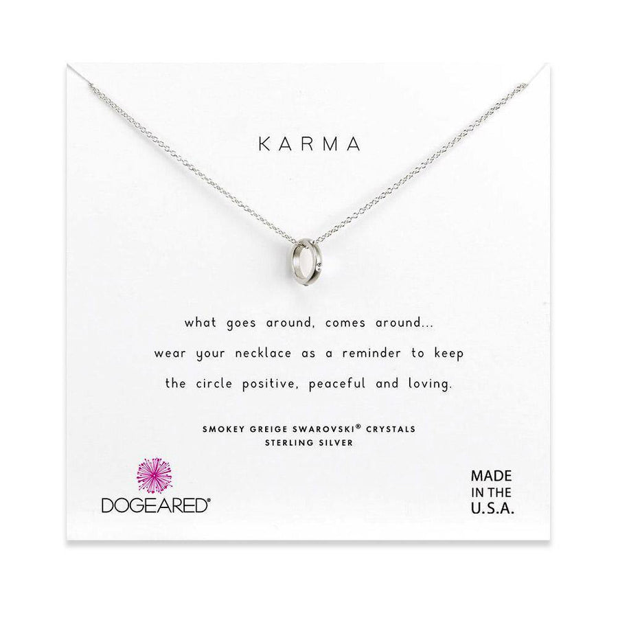 mini sliding karma ring necklace