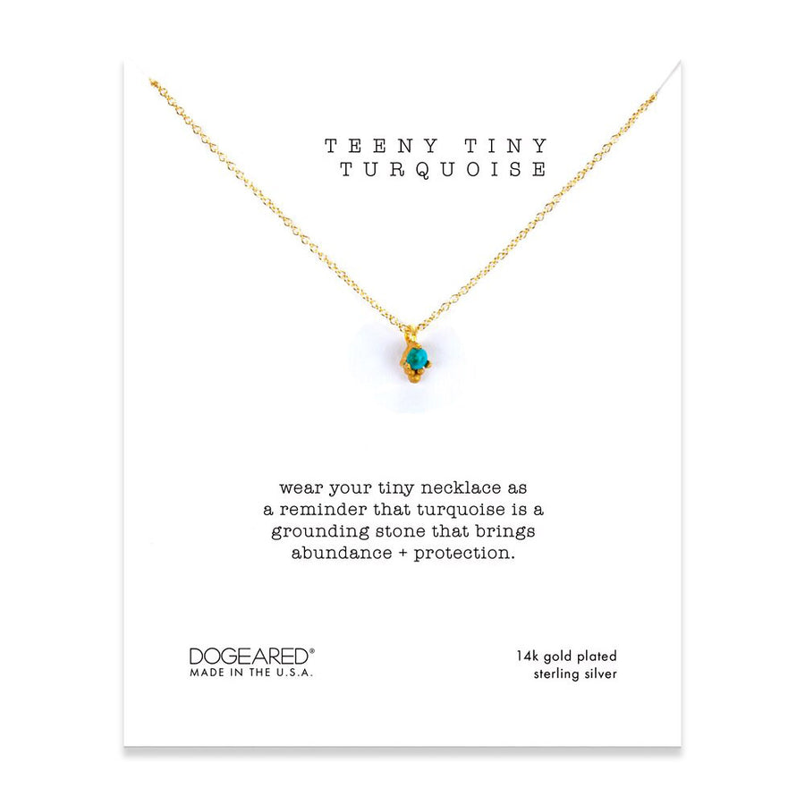 wear your tiny necklace as a reminder that turquoise is a grounding stone that brings abundance+ protection!