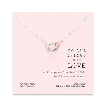 Do all things with love! The perfect double heart necklace for gifting or pairing with your every day look!