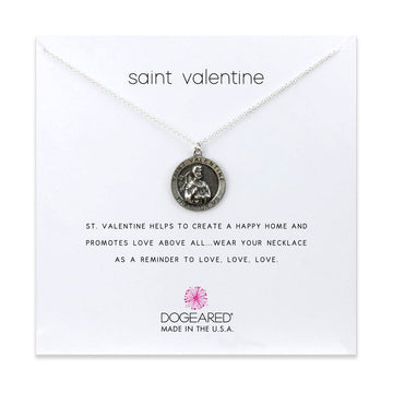 saint valentine necklace, sterling silver