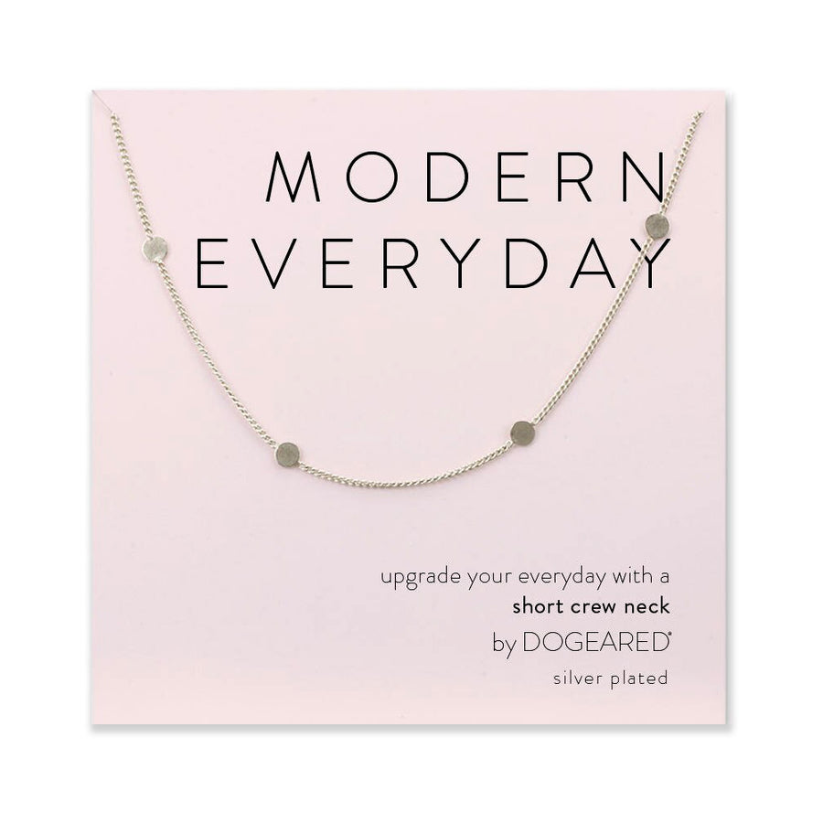 modern everyday multi-circle chain necklace