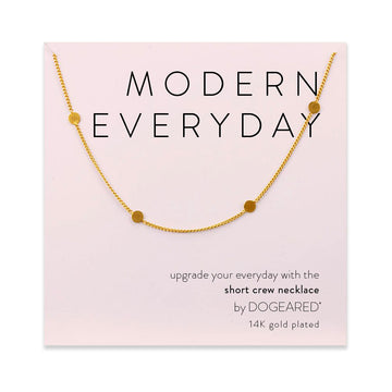modern everyday multi-circle chain necklace, gold dipped