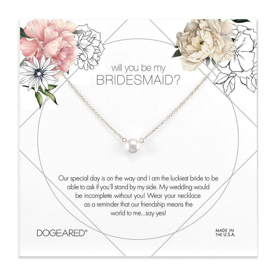will you be my bridesmaid flower card, small