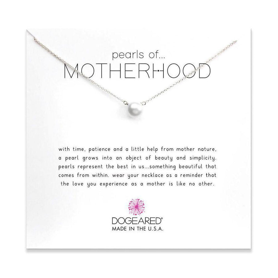 pearls of motherhood large pearl necklace, sterling silver