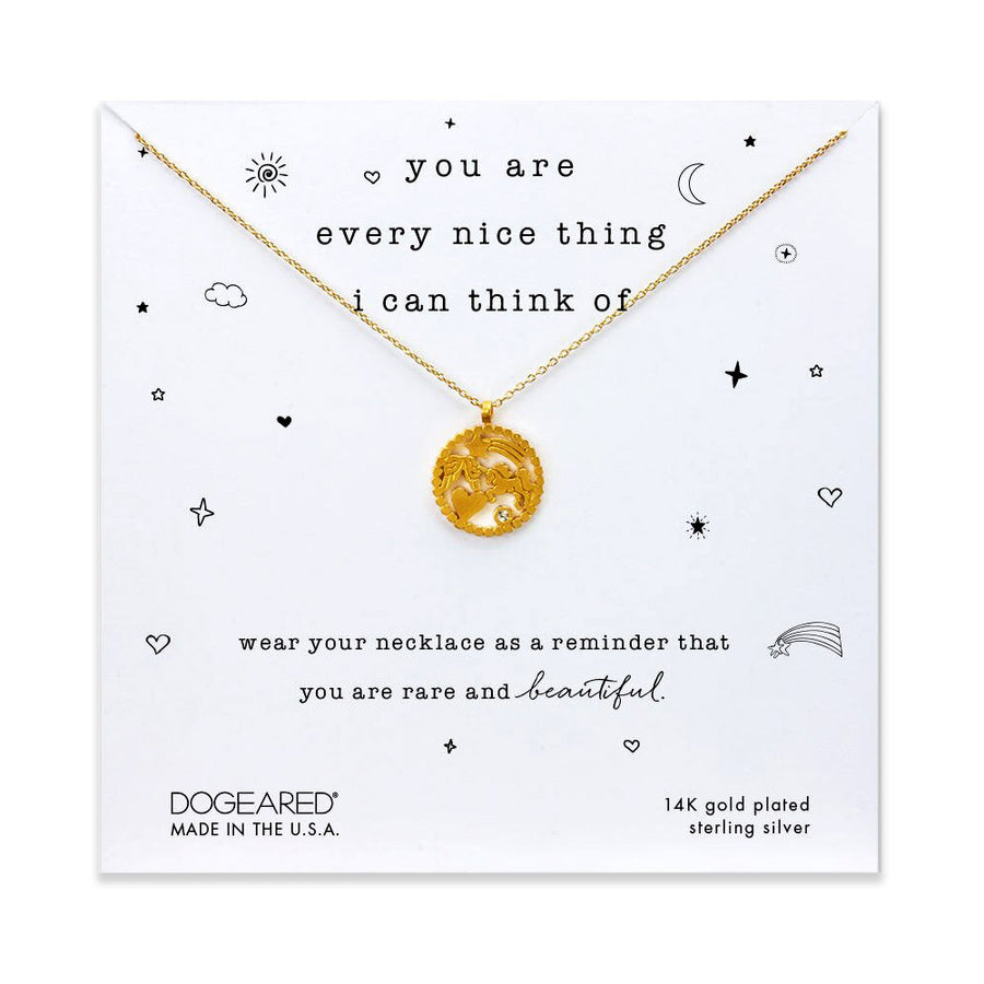 you are everything nice magical icons necklace, gold dipped