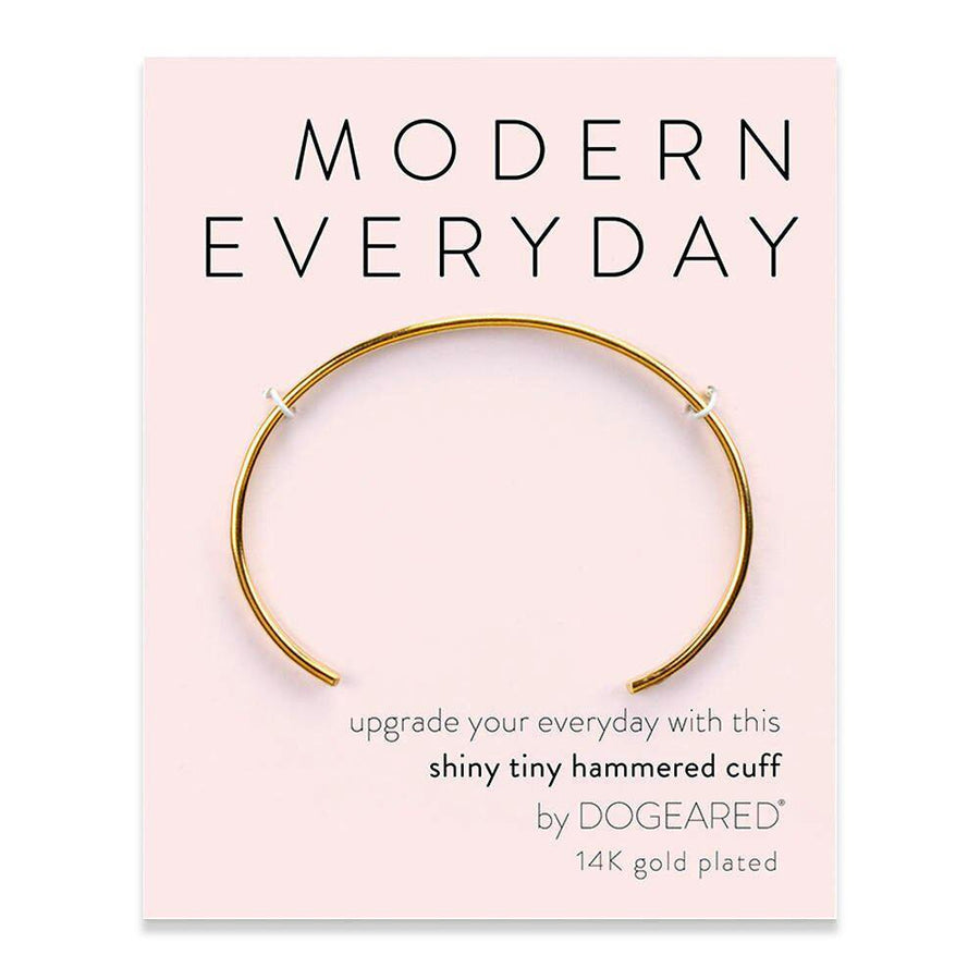 modern everyday hammered cuff, gold plated