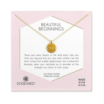 beautiful beginnings pendant necklace, gold dipped