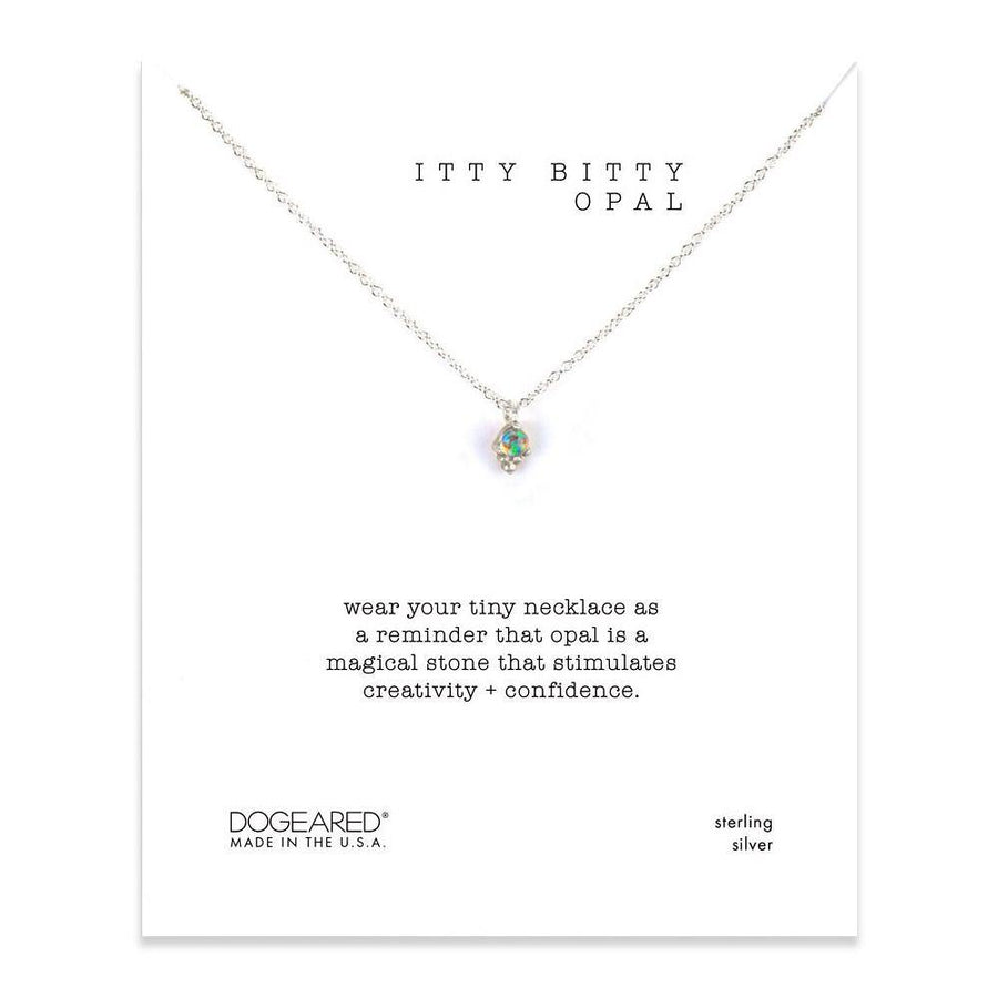 itty bitty opal necklace