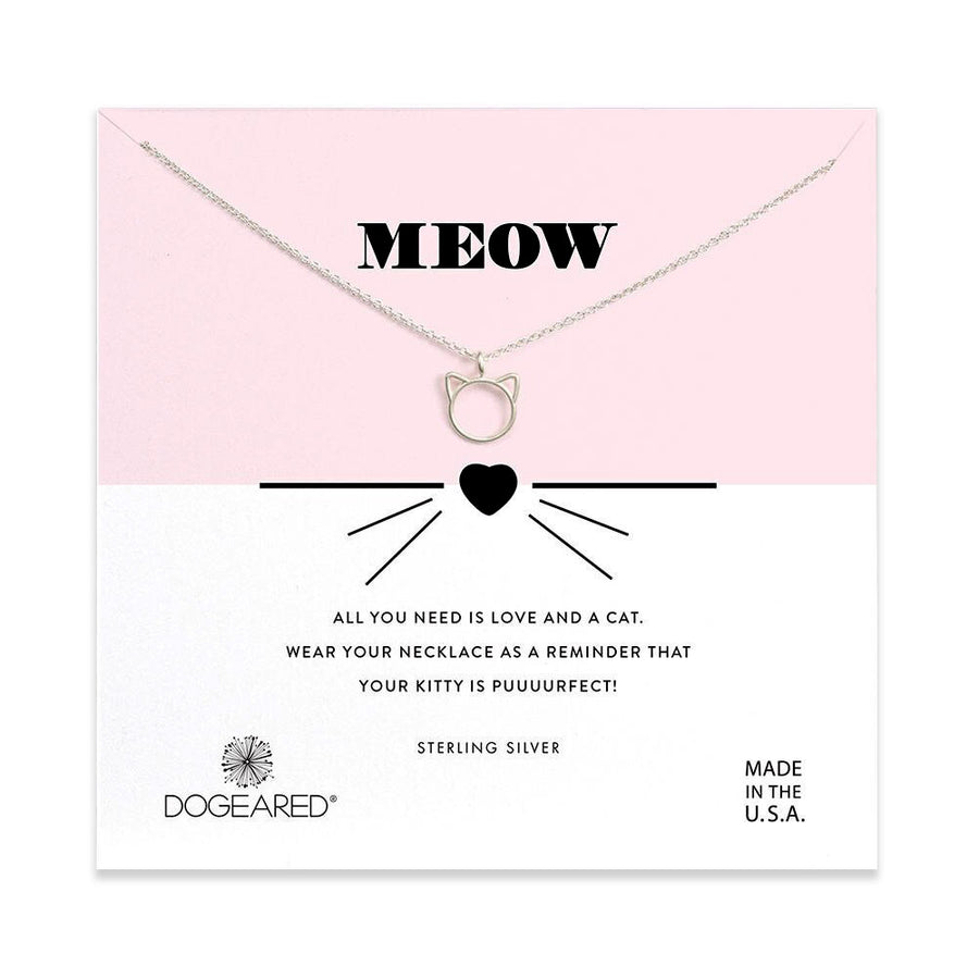 meow cat charm necklace