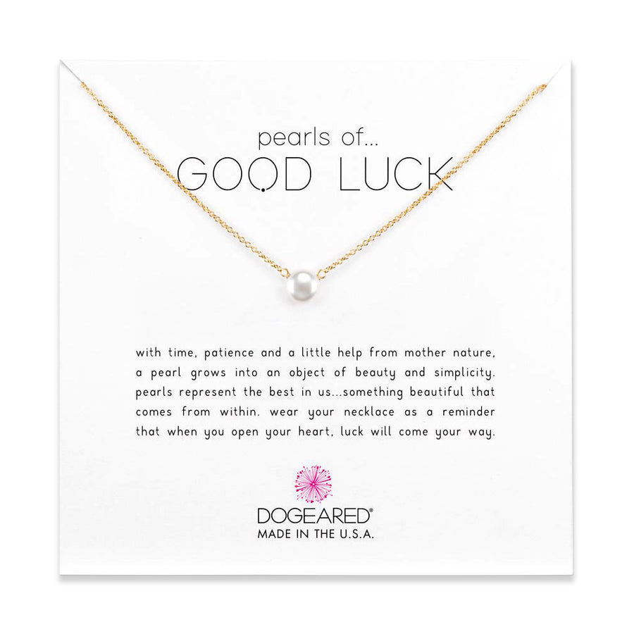 pearls of good luck small pearl necklace, gold dipped