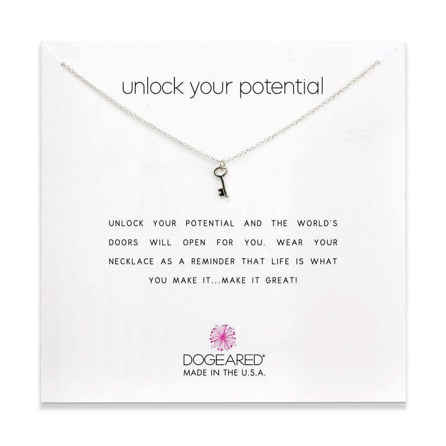 unlock your potential simple key, sterling silver
