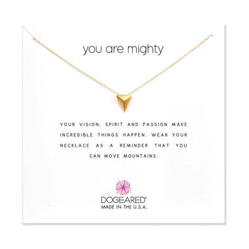 you are mighty necklace,  gold dipped