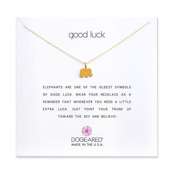 good luck necklace,  gold dipped