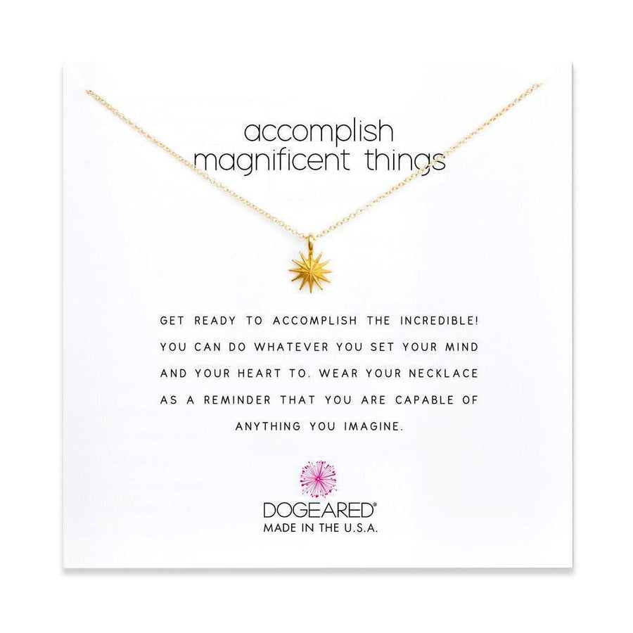 accomplish magnificent things on card, (gold)