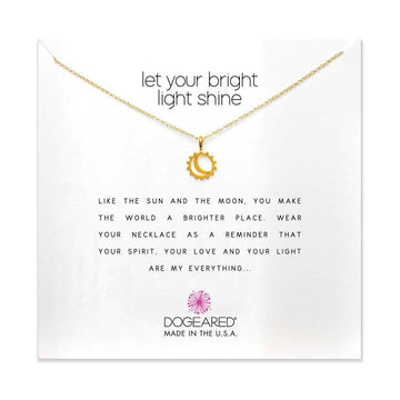 let your bright light shine necklace, gold dipped