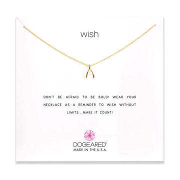 wish necklace, gold dipped