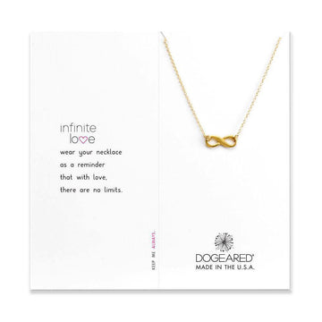 infinite love necklace, gold dipped