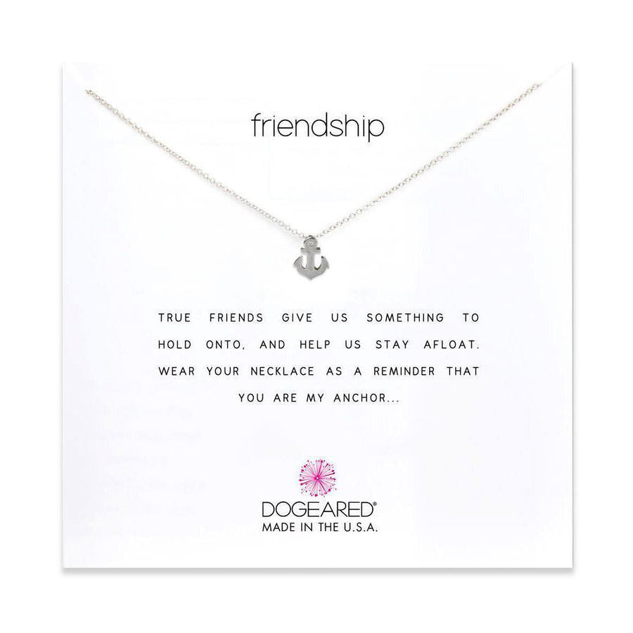 friendship necklace smooth anchor