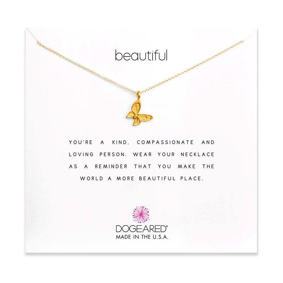 beautiful enchanted butterfly necklace, gold dipped