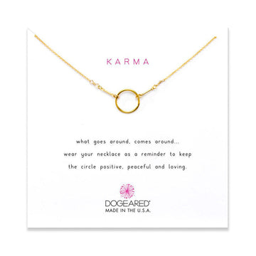 the original karma necklace, gold dipped