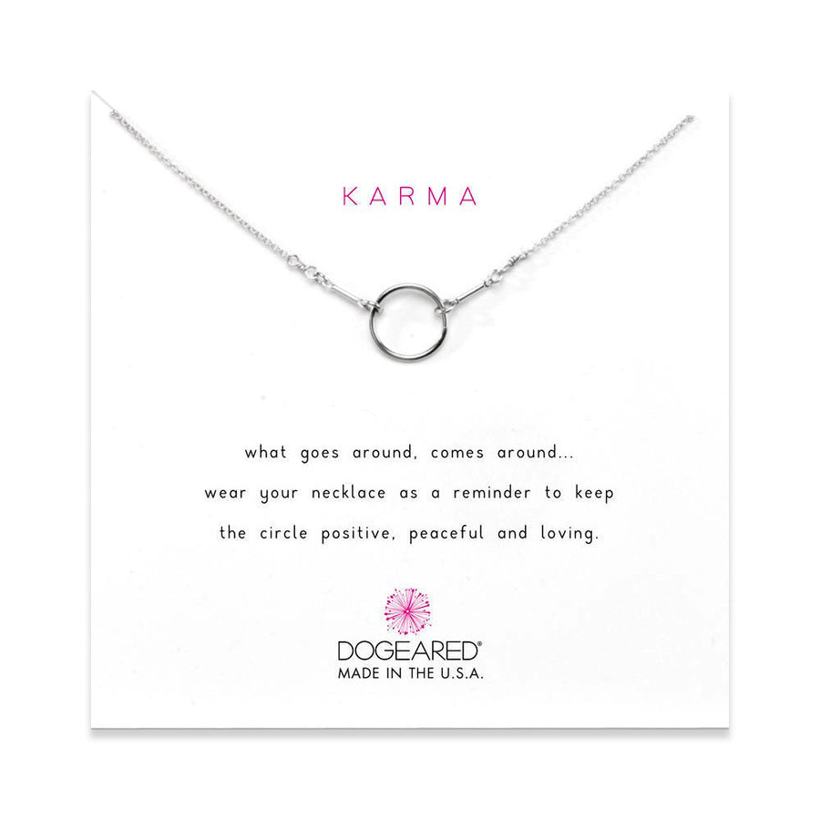 the original karma necklace, sterling silver