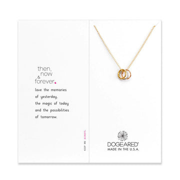 then, now, and forever sparkle karma necklace