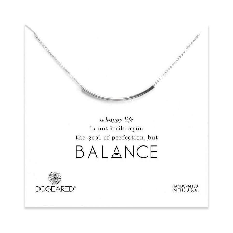 balance tube bar necklace,  Sterling Silver