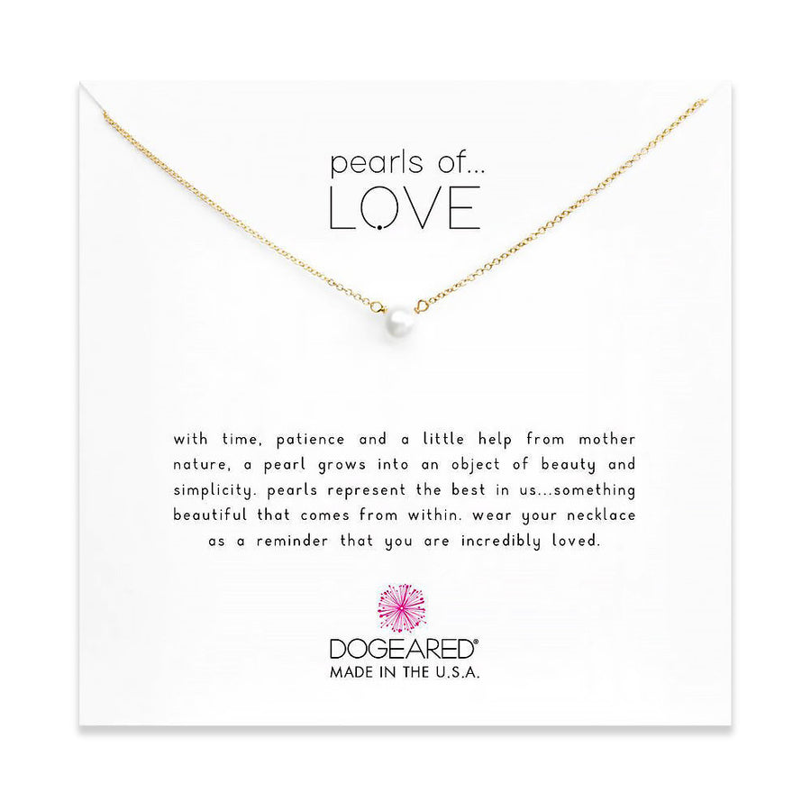 pearls of love small white pearl necklace, gold dipped