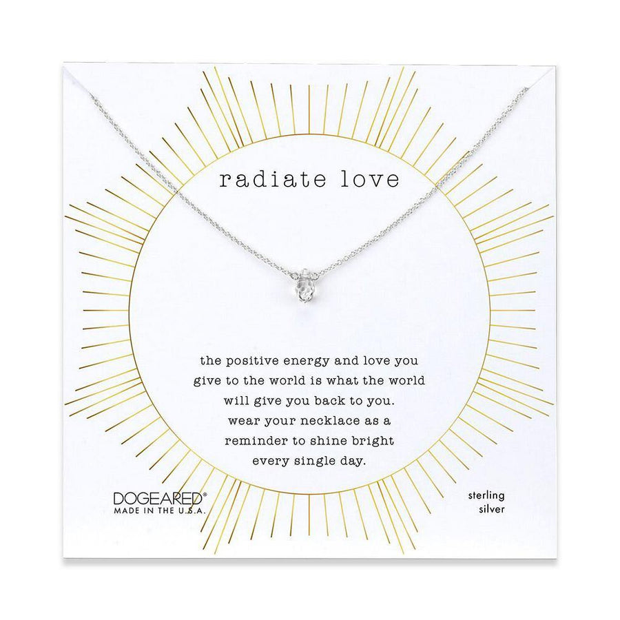radiate love crystal necklace