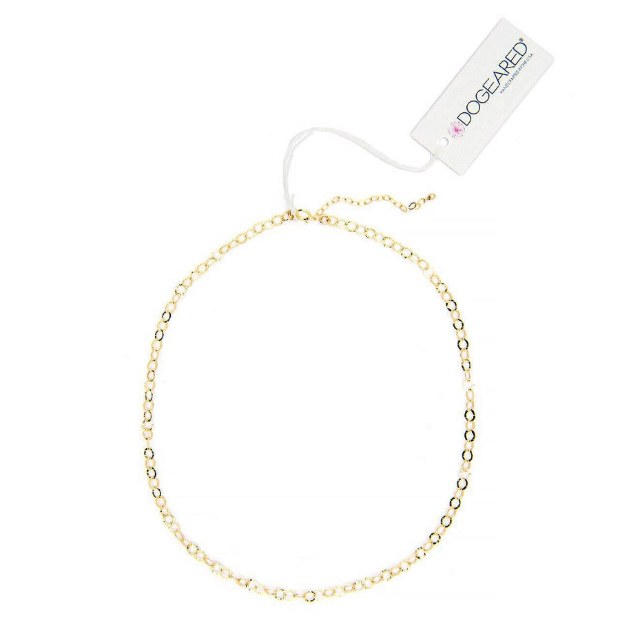 gold dipped flat circle chain choker