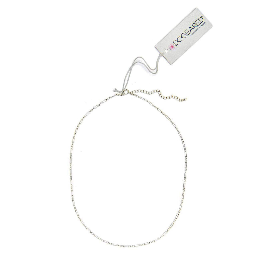 small rectangular chain choker