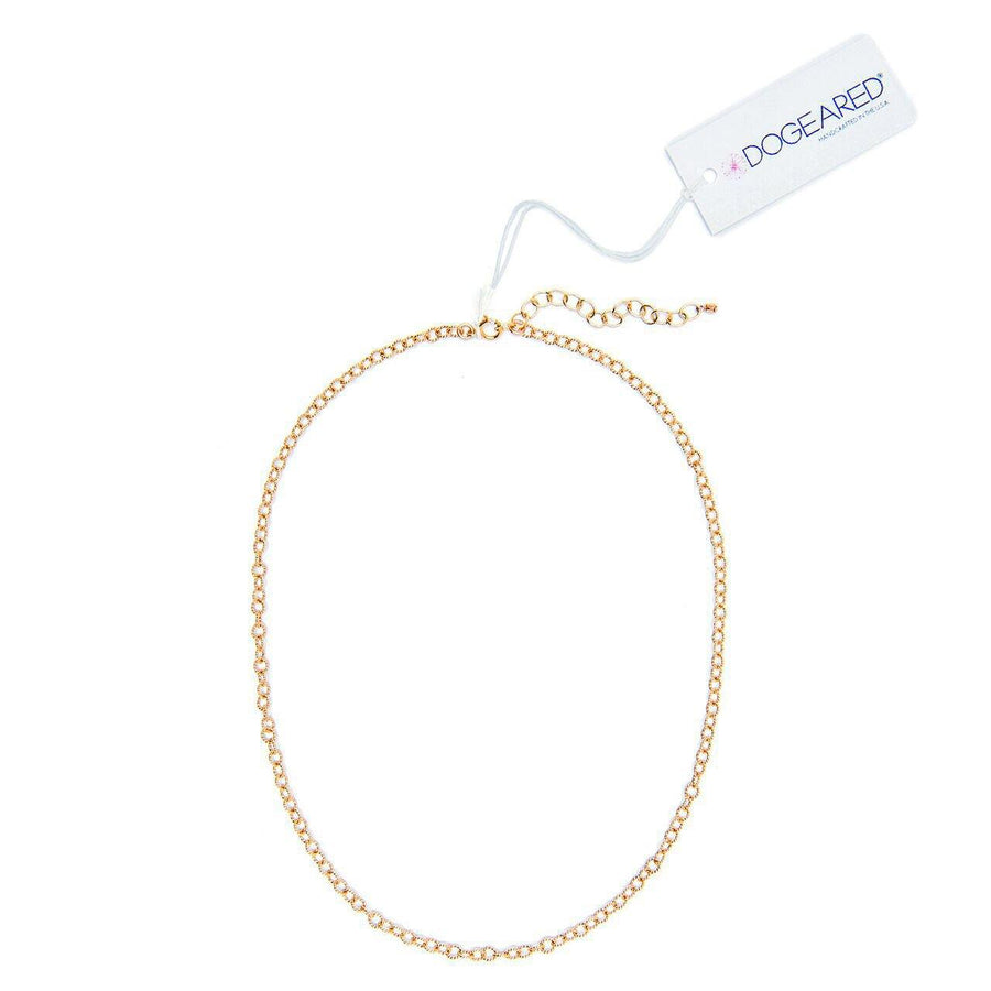 gold dipped sparkle circle chain choker