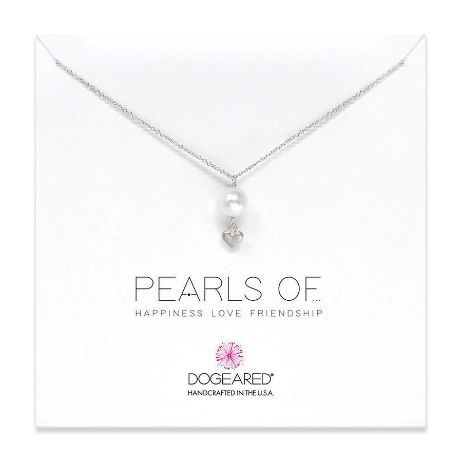 large pearl with cupid heart sterling silver