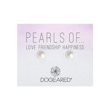 pearls of love friendship happiness pearl stud earrings