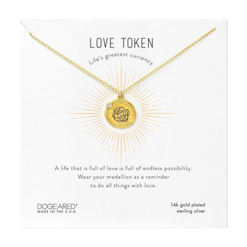 dogeared etched rose necklace