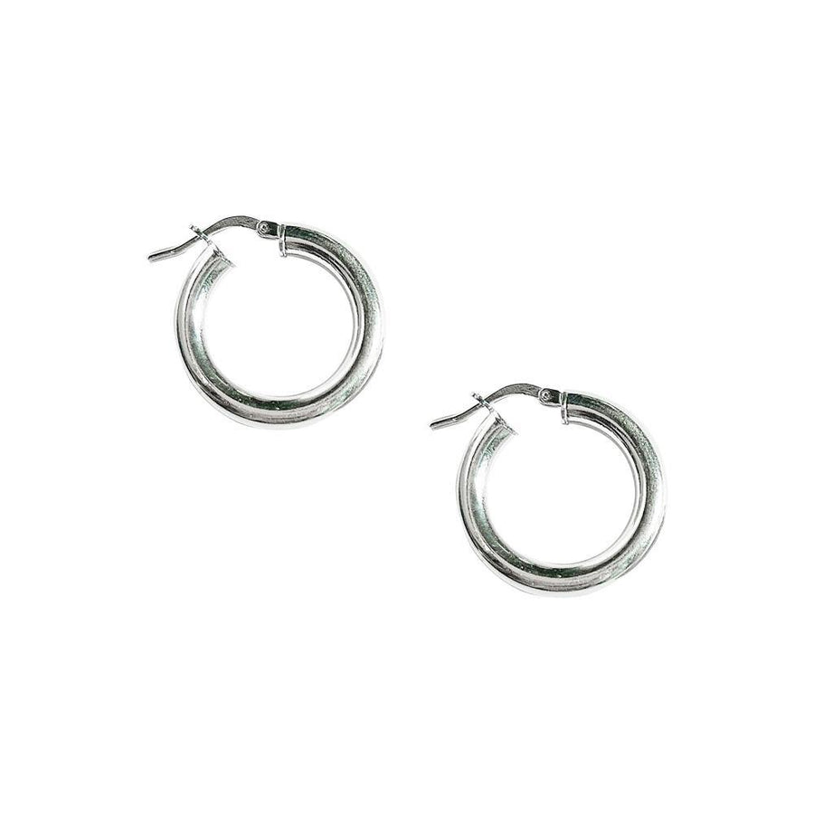 lightweight sterling silver hoop earrings