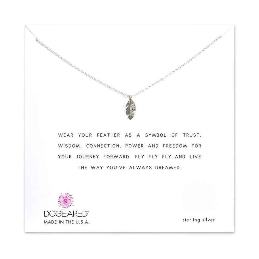 feather life journey necklace