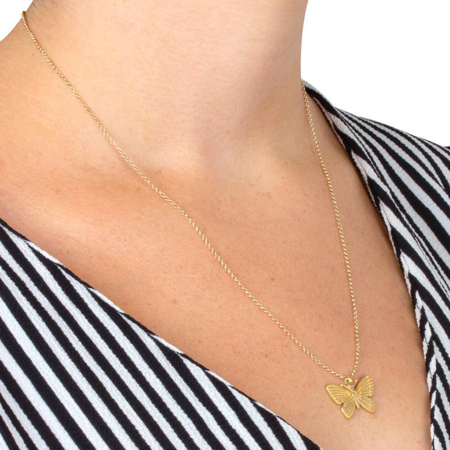 follow your butterflies necklace