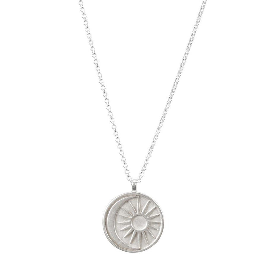 sun +  moon medallion necklace