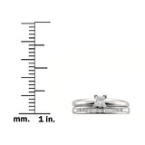 14k White Gold Princess-cut Diamond Solitaire Engagement Bridal Set Wedding Ring (1/2 cttw, I-J, I2-I3)