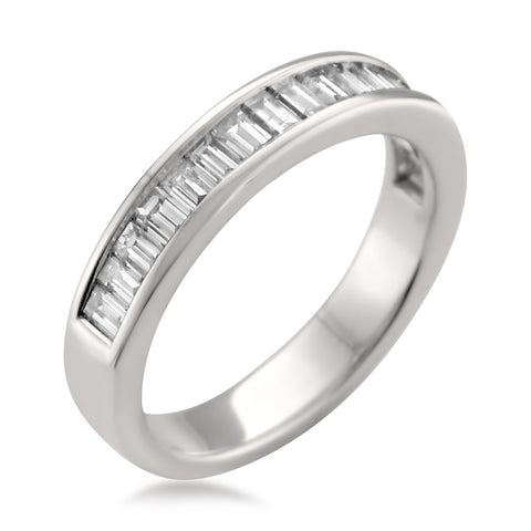 14k White Gold Baguette Diamond Bridal Wedding Band Ring (1 cttw, I-J, VS2-SI1)