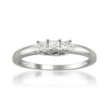 14k White Gold Princess-cut Three-Stone Diamond Engagement Wedding Ring (1/4 cttw, H-I, I1-I2)