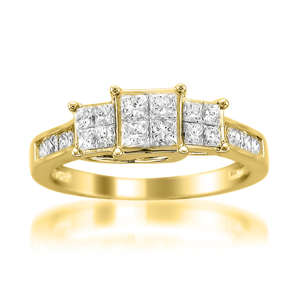 Four Stone Princess Cut Diamond Ring