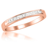 14k Rose Gold Princess-cut Diamond Bridal Wedding Band Ring (1/4 cttw, I-J, I2-I3)
