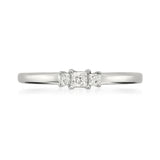 14k White Gold Princess-cut 3-Stone Diamond Engagement Wedding Ring (1/5 cttw, I-J, I2-I3)