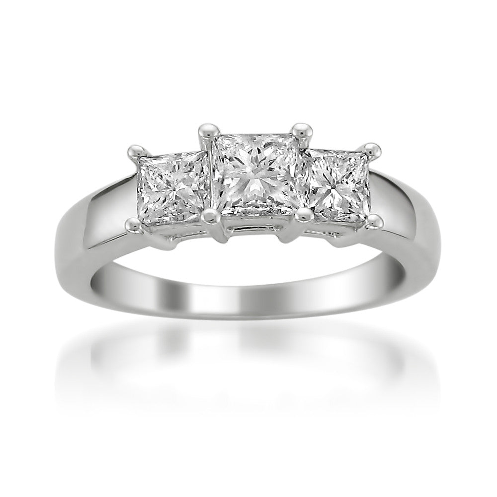 circa platinum diamond south navette edwardian ring north stone