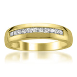 14k Yellow Gold Princess-cut Diamond Men's Wedding Band Ring (1/2 cttw, I-J, I1-I2)