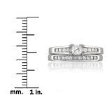 14k White Gold Princess-cut Diamond Engagement Bridal Set Wedding Ring (7/8 cttw, H-I, SI2-I1)