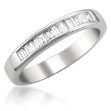 14k White Gold Baguette Diamond Bridal Wedding Band Ring (1/2 cttw, I-J, VS2-SI1)
